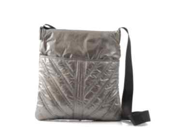 Listonoszka - pikowana, puchowa 007 brown na ramię vera bags