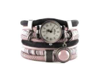 Zegarek-bransoletka w stylu boho, czerwono - granatowy zegarki