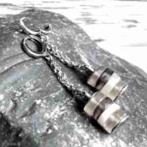 Kolczyki srebrne z bursztynami treendy długie, ze srebra