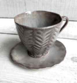 Zestaw do espresso boho rzeźbiony kubki kmdeka espresso