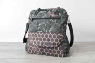 Prezent święta: Plecak torba listonoszka - pszczoły na zielonym