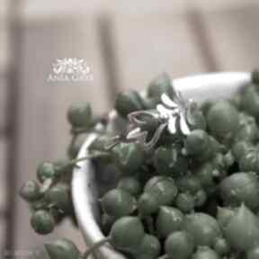 Pierścionek florystyczny anna grys pierścionek, kwiaty, rośliny