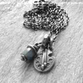 Dla artystycznej duszy naszyjnik z apatytu i srebra naszyjniki