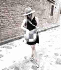 Dżinsowa torba hobo patchwork mała denimlove na ramię godeco