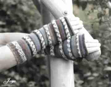 Mitenki z odrobiną turkusu rękawiczki jaga11 sportowe, wygodne
