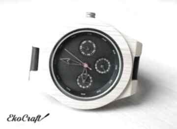 Drewniany, bambusowy zegarek z datownikiem seiko zegarki