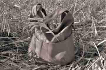 Workówka ruda na ramię manufakturamms vegan, torebka, torba