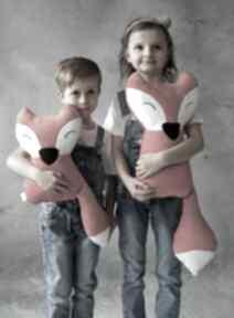 Przytulanka dziecięca lisek duży maskotki ateliermalegodesignu