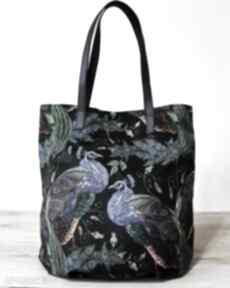 Worek hobo - pawie na ramię torebki niezwykle elegancka