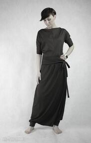 Brown sugar sukienki ququ design wymyslny, bawełniany, brązowy