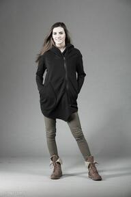 Bluza ashmita asymetryczna bluzy navahoclothing bluza, gotycki