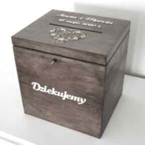 Pudełko na koperty - wysokie księgi gości biala konwalia pudełko
