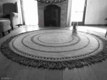 Dywan camila ze sznurka bawełnianego artedania sznurka, okrągły
