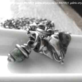 Egzotyczne klimaty naszyjnik ze szmaragdu i srebra naszyjniki