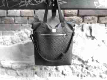 Torebka catoo premium #01 na ramię accessories czarna torebka