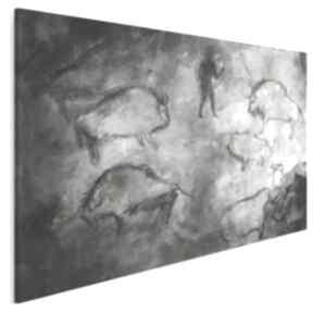Obraz na płótnie - malowidła pierwotny zwierzęta 120x80 cm