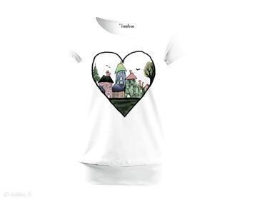 Bawełniana wygodna bluzka damska - ręcznie malowana bluzki