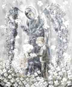 Anioł stróż dzieci 65 x 80 marina czajkowska anioł, anioły,