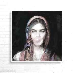 KrzanooArt: obraz dekoracje plakat kobieta dom salon