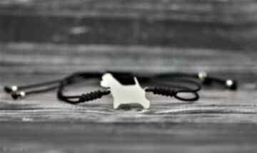 West highland white terrier - bransoletka srebro pozłacane pasja