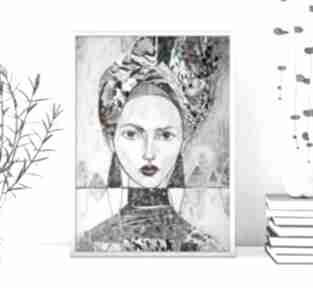 Plakat a4 - kobieta w turbanie plakaty creo plakat, wydruk