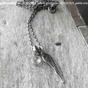 naszyjnikikryształ-górski srebro-oksydowane srebro-pozłacane