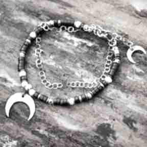 Księżyc nocą - bransoletka z onyksem magdalena markowicz onyks