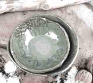 Shiraja. Ceramiczne miseczki kamionkowe c139
