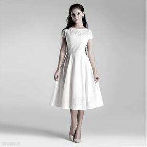 Sukienka klara total midi biel haft angielski sukienki livia