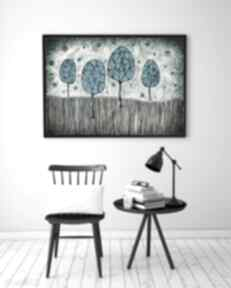 Malgorzata Domanskagrafika sztuka plakat ilusyracja obraz drzewa