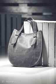 Torebka skórzana ręcznie robiona navahoclothing na ramię torba