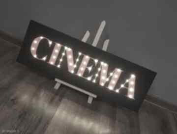 Świecący napis cinema film kino prezent dla niego fana kina