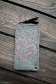 Filcowe etui na telefon - myszka happyart smartfon, pokrowiec
