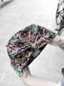 Turban kolorowy uniwersalny czapki ruda klara turban, print