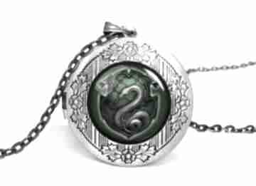 Slytherin sekretnik łańcuszkiem harry potter naszynik prezent