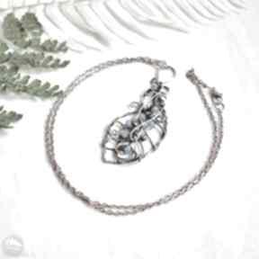 Chabrowe - naszyjnik z jadeitami naszyjniki pracownia miedzi