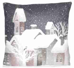 Pomysły na upominki świąteczne. Poduszka zimowa wzór 7 poduszki