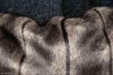 Mankiety z futra brązowe rękawiczki gofashion z-futra