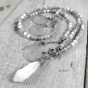 Kamień księżycowy z labradorytem -komplet 455 irart labradoryt,