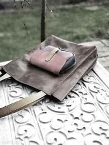 Kolorowa torba skórzana na ramię navahoclothing damska torba