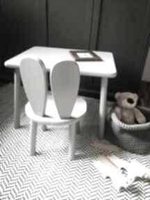 Meble dziecięce stolik i krzesełko królik pokoik dziecka wnetrze