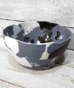Duża misa porcelanowa wyjątkowa ceramika kmdeka misa, ceramiczna