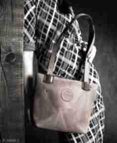 Ręcznie wykonana damska torba, mała skórzana torebka zuza