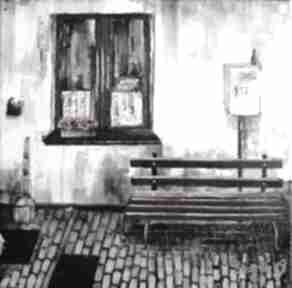 Obraz akrylowy podwórze katarzyna staryk obraz, podwórko