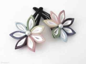 Kolorowe spinki włosów spinka ozdoba prezent ręcznie wykonane dla
