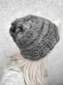 Lekka wełniana czapka czapki the wool art czapka, na drutach