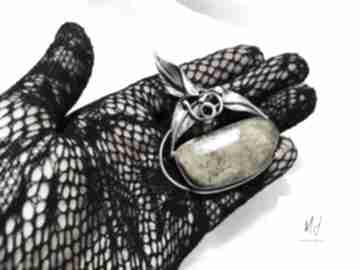 Unikat wisior srebrny 925 z bursztynem bałtyckim rękodzieło