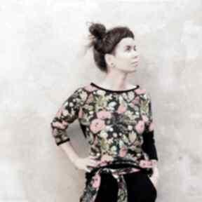 Bluza damska - czerwone maki bluzy mimi monster w-kwiaty