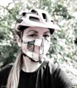 Feltrisimimaska na-rower ochronna przeciwpyłowa kolorowa