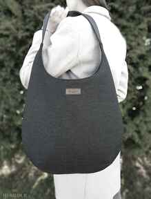 Torba worek czarna na ramię musslico torba, duża worek, torebka